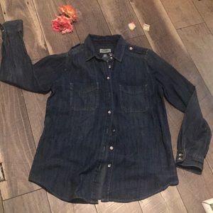 Jean textured dress shirt